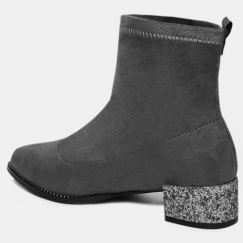 Glitter ✨ Heel Grey Boots