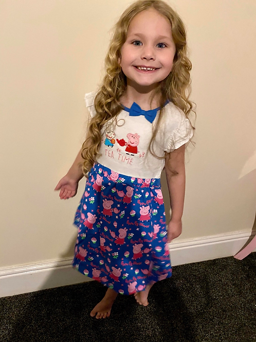 Peppa Pig tea time girls dress 💖