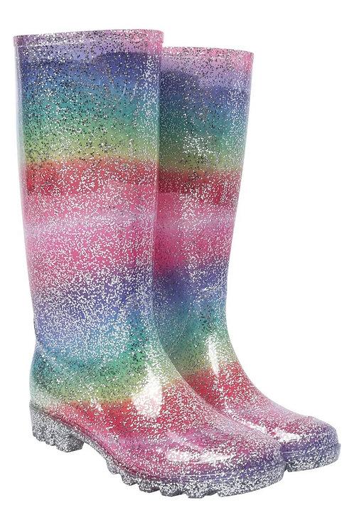 Ladies Rainbow 🌈 Glitter welly boots festival