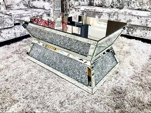 Latge Crushed Diamond Luxury Vanity Coffee Table 100cmx60cm New & Packed