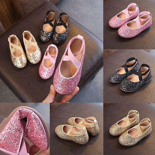 Infant / junior Princess Glitter party shoes