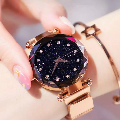 Champagne Sparkle Night Magnetic watch