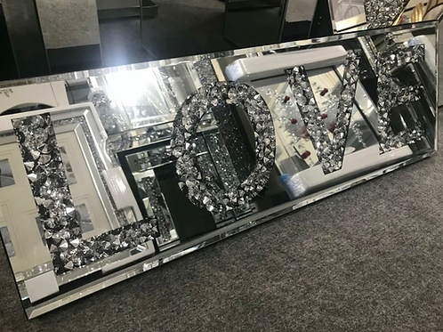 Crushed Crystal Love wall mirror 💎