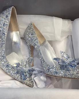 Ladies Swarovski Crystal embellished heels