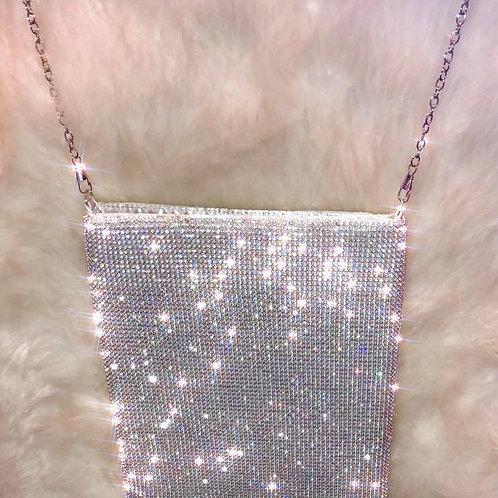 Silver Crystal Messenger Bag