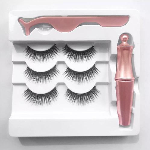 Rose Quartz Waterproof magnetic eyeliner & lashes kit