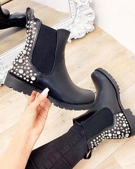 Sienna Rhinestones ankle boots