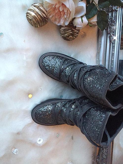 Fur Lined Glitter Boots