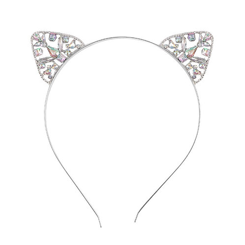 Rhinestone cat ears / hair band