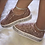 Thumbnail: Rose Gold Crystal embellished sneakers