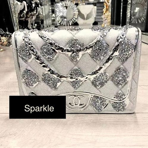 Crushed Diamond Chanel hand bag decoration