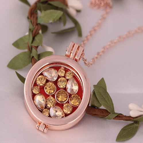 Scented Rose Gold Necklace