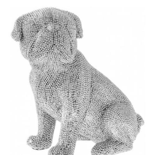 Crystal embellished sitting pug