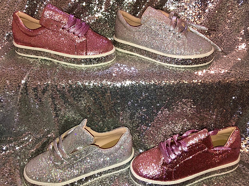 Full glitter trainers 💖 SIZE 5 Only