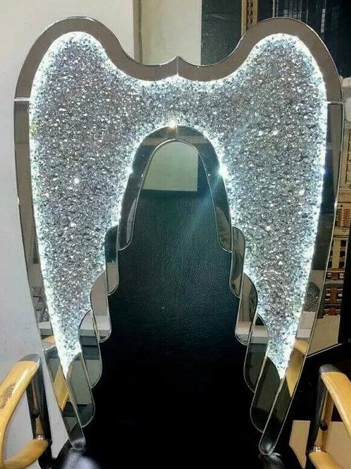LED Crushed Diamond Angel wings UK plug