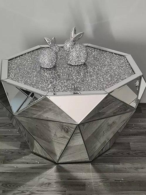 Crushed Diamond octagonal coffee table