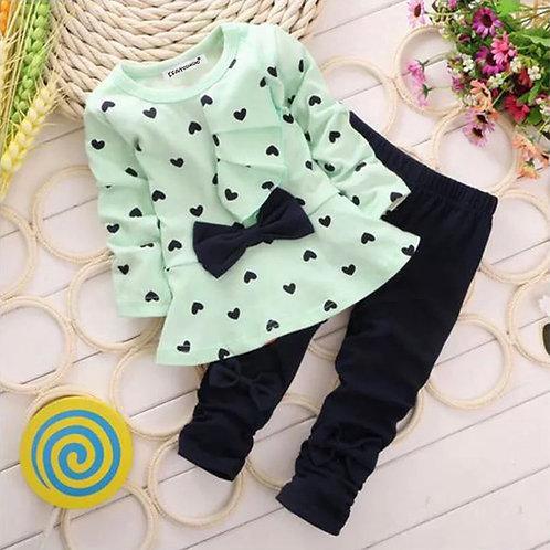 Girls cute bow 🎀 top and leggings set