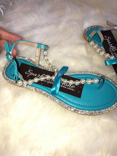Pearl Rhinestone Sandals