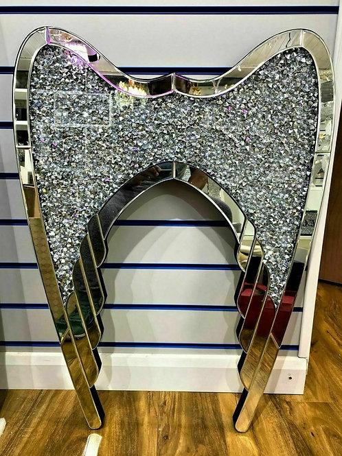 Crushed Diamond Angel wings wall decor