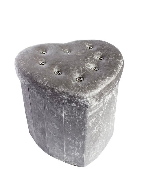 Deluxe Silver Crushed ottoman