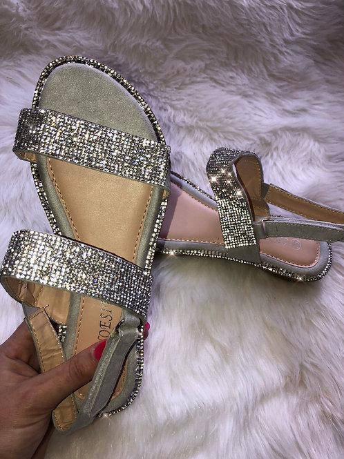 Eliza Crystal Sandals