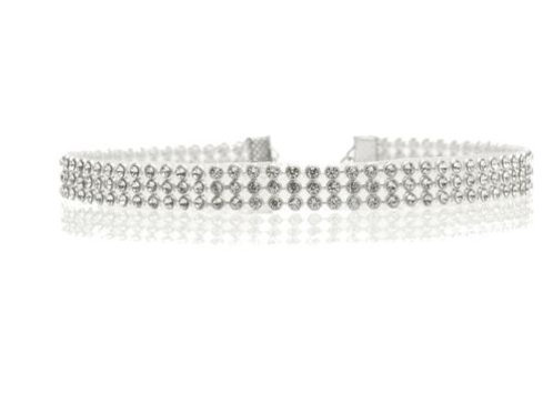 Silver Crystal Rhinestone Choker