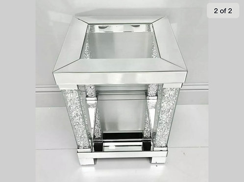 Crushed Diamond side end illusion table