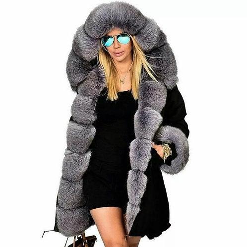 Revel Faux fur padded Parker coat