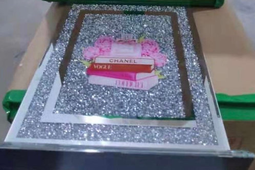 Crushed Diamond filled chopping board CHANEL