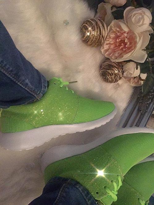 Lime Green Half Glitter