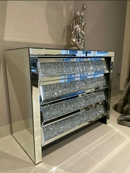 Large crushed Diamond Chest of draws