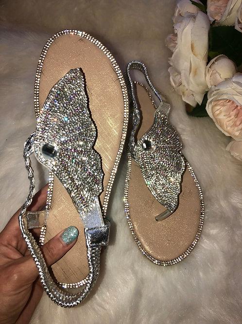 Butterfly Crystal embellished Sandals