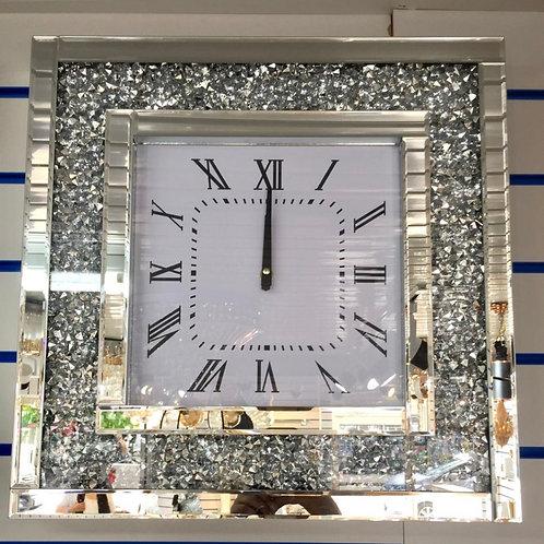 35 x 35cm crushed Diamond wall mirror