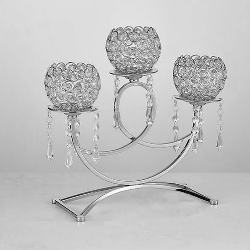 Vintage Crystal Glass Tea Light holder