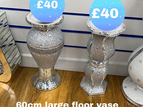 Sparkly glitter mosaic floor lamps