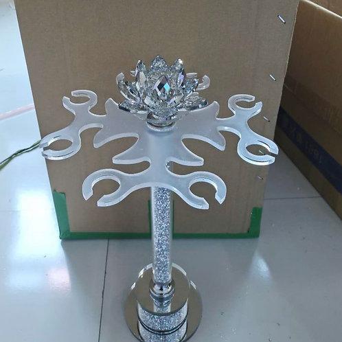Crystal flower Crushed Diamond wine glass holder