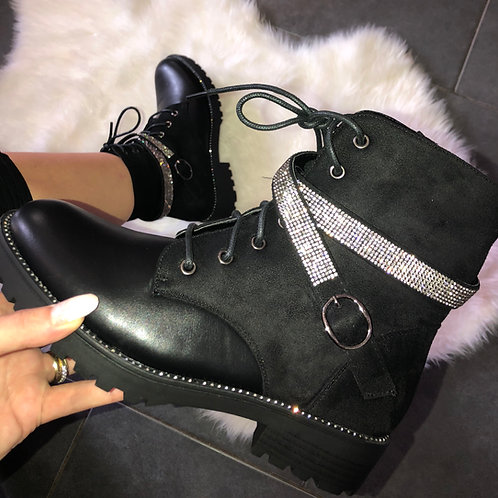 Crystal Rochelle Lace up boots
