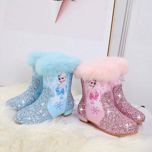 Elsa glitter fur lined boots High quality