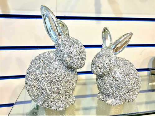 Crushed Diamond bunnies / Ornaments