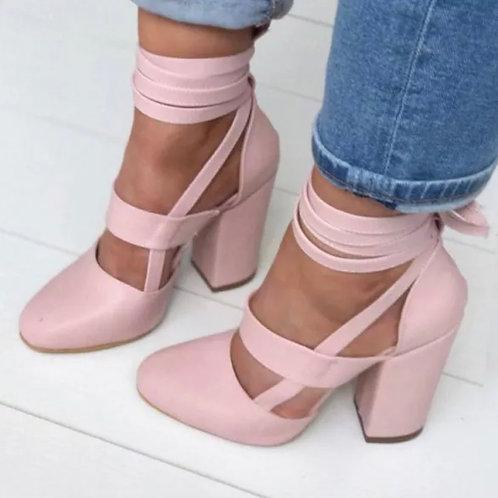 Victoria Block Heeled Sandals