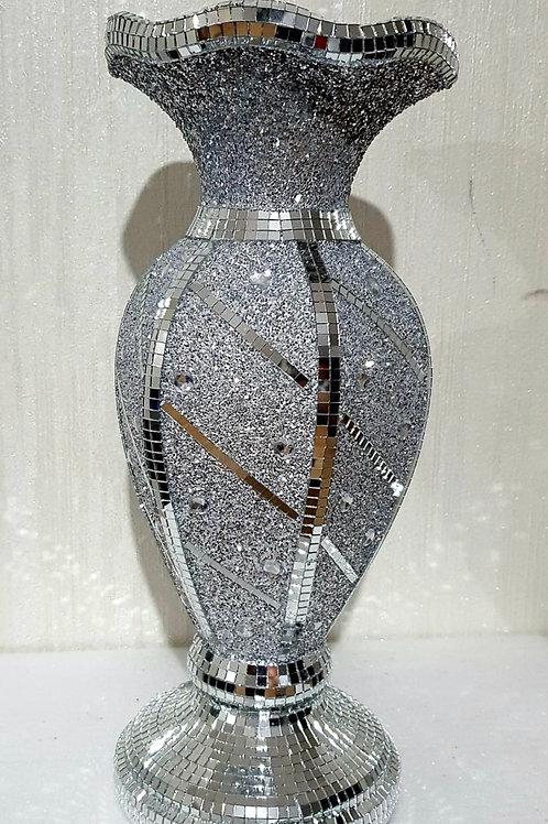 Silver mosaic jewel 💎 vase 40cm