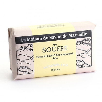 SAVON AU SOUFFRE NATURIDEM Pour peaux ACNEIQUES 125 GR