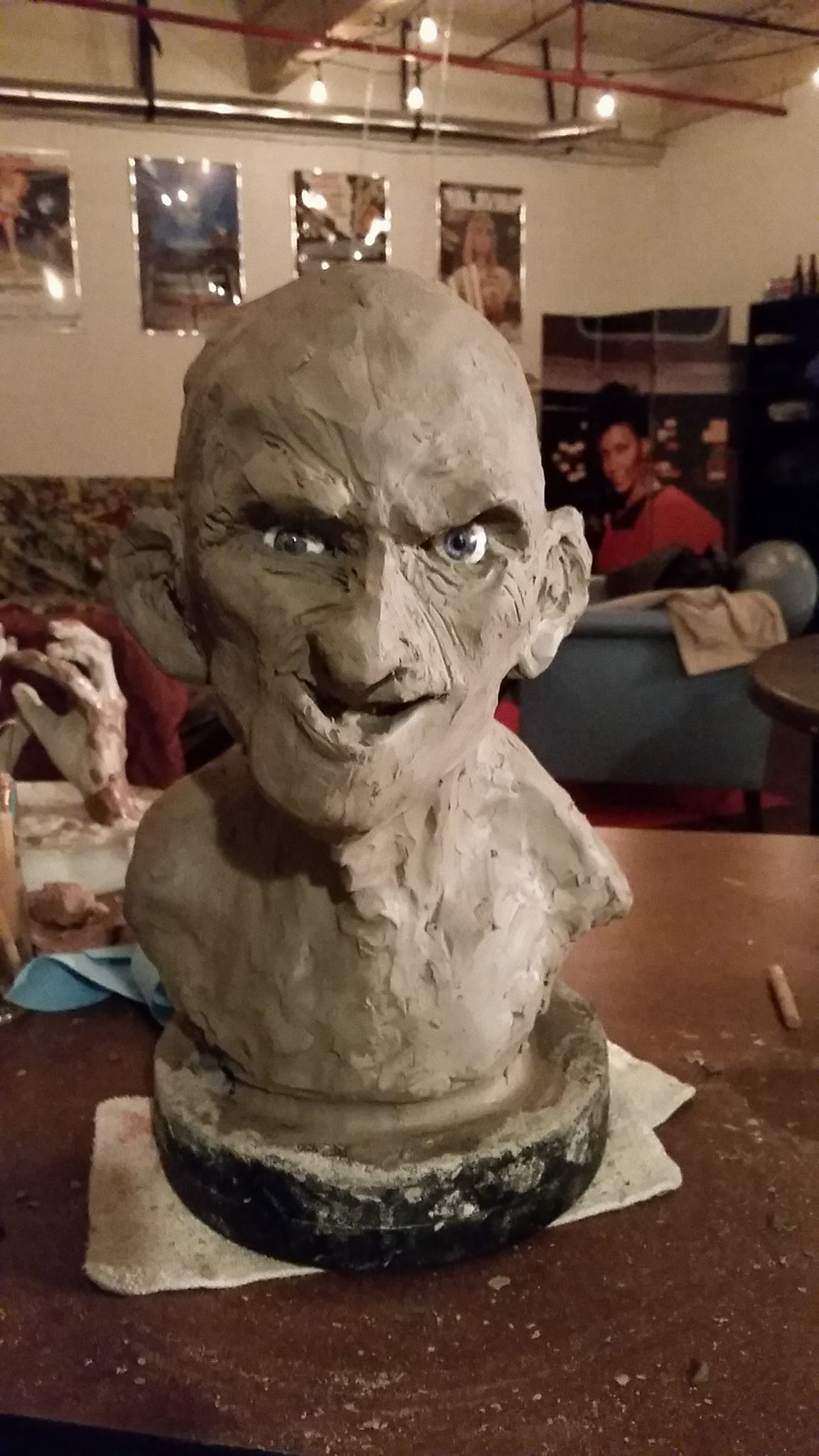 Clay rough of Gypsy Rose