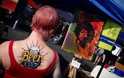 Quick body painting at milton beer fest!