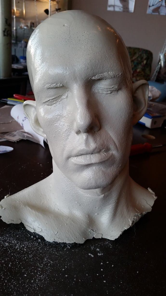 Lifecast to plaster