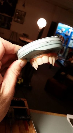 Custom acrylic fangs