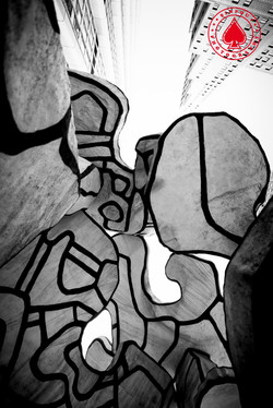 """""""FOUR TREES"""" by Jean Dubuffet"""