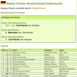 Platz 1 in den Airplaycharts