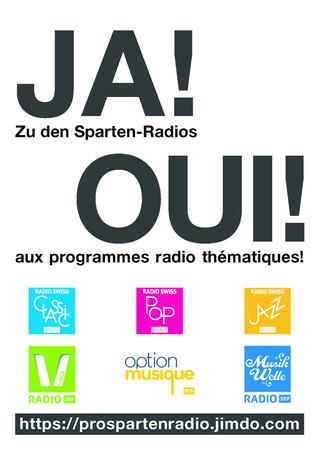 Petition für Erhalt der SRG-Spartenradios – Bitte um Unterstützung