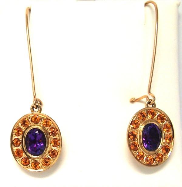 amethyst garnet earrings PA124246.JPG